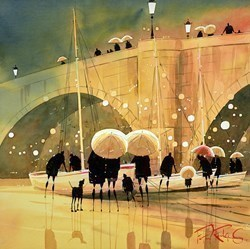Beside the Bridge by Peter J Rodgers -  sized 16x16 inches. Available from Whitewall Galleries